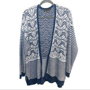 Love & Legend Blue and White Knit Cardigan